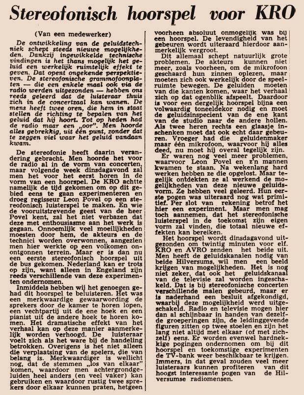 Uit de krant van 19-01-1960.