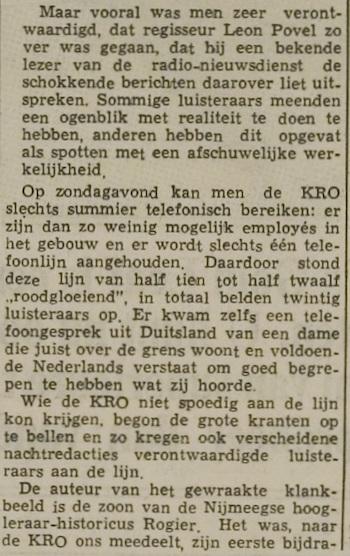 Uit de krant van 02-12-1964.