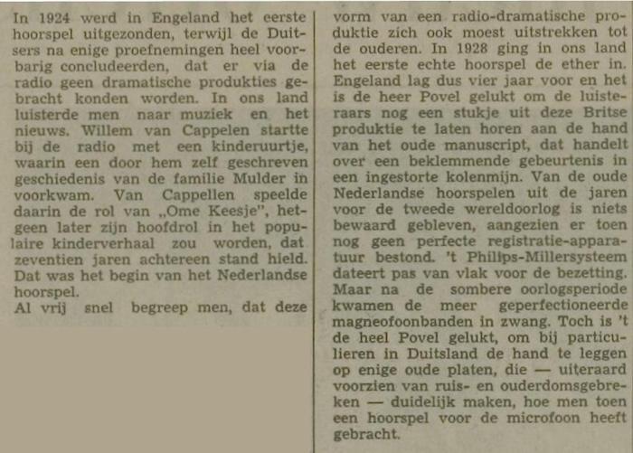 Uit de krant van van 19-02-1968.