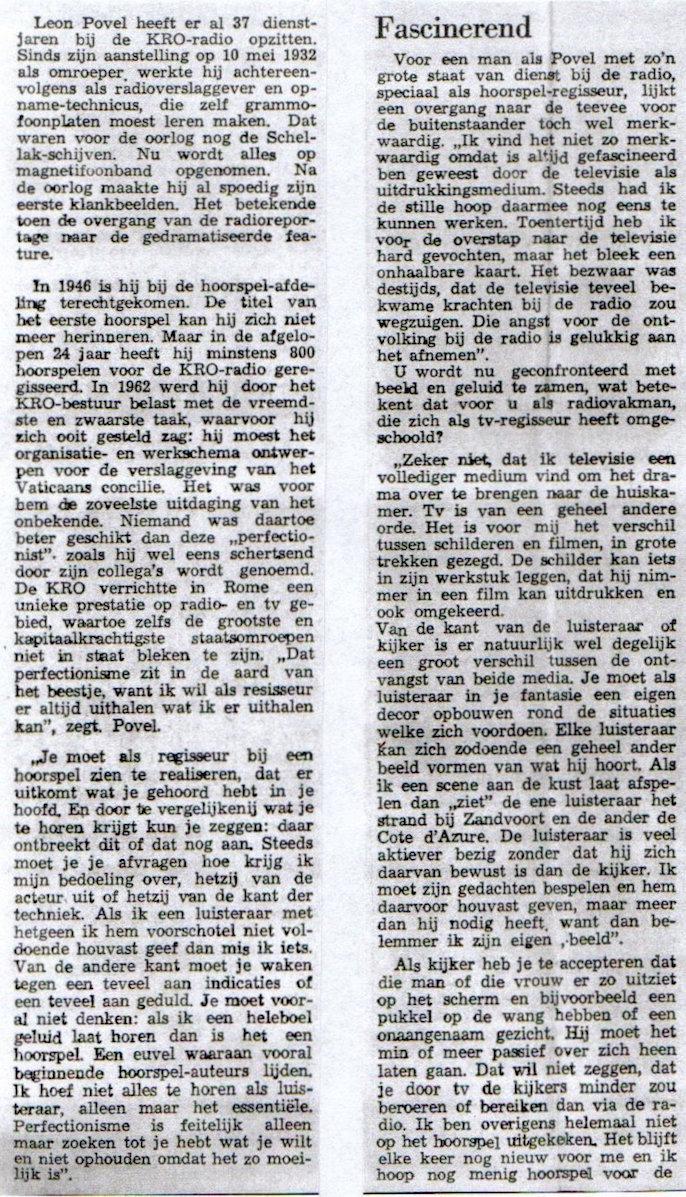 Uit De Stem van 04-11-1969.