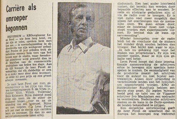 Uit de krant van 15-05-1972.