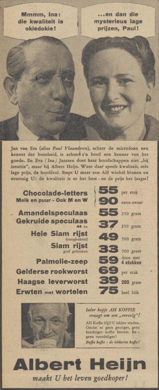Advertentie van Albert Heijn.