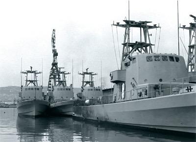 Schepen in de haven van Cherbourg