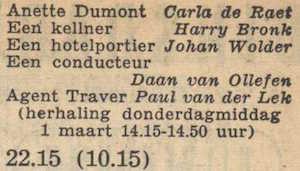 Deel 7 de rolverdeling. (Mijn naam is Cox! (1956).