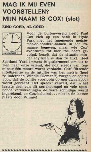 Deel 10. Mag ik mij even voorstellen? Mijn naam is Cox! (1967).