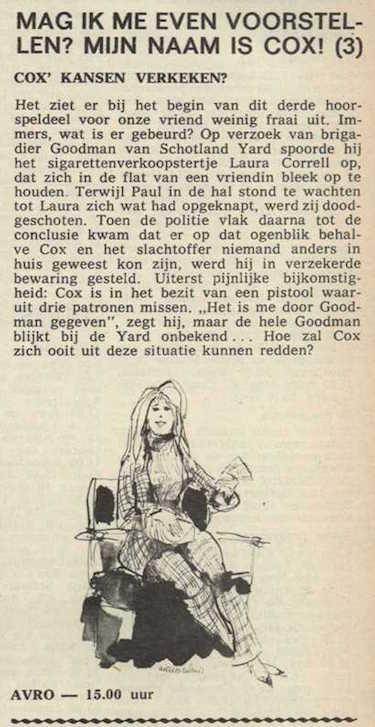 Deel 3, Mag ik mij even voorstellen? Mijn naam is Cox! (1967).