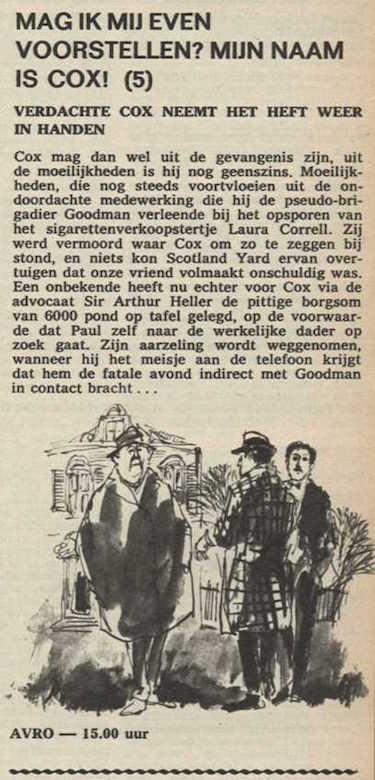 Deel 5. Mag ik mij even voorstellen? Mijn naam is Cox! (1967).