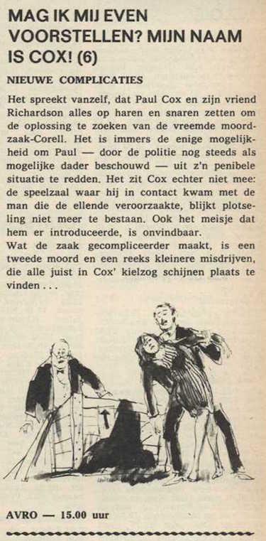 Deel 6. Mag ik mij even voorstellen? Mijn naam is Cox! (1967).