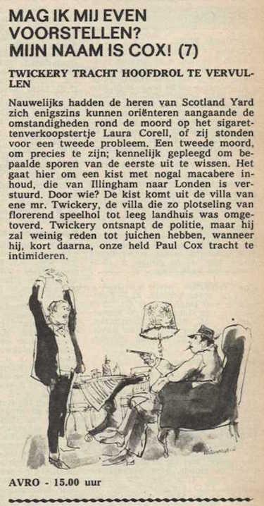 Deel 7. Mag ik mij even voorstellen? Mijn naam is Cox! (1967).