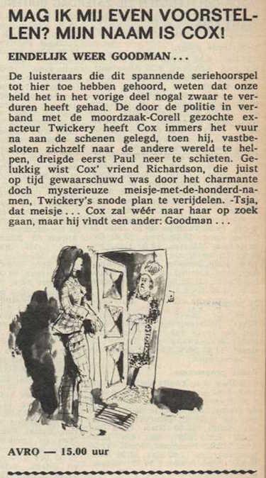 Deel 8. Mag ik mij even voorstellen? Mijn naam is Cox! (1967).