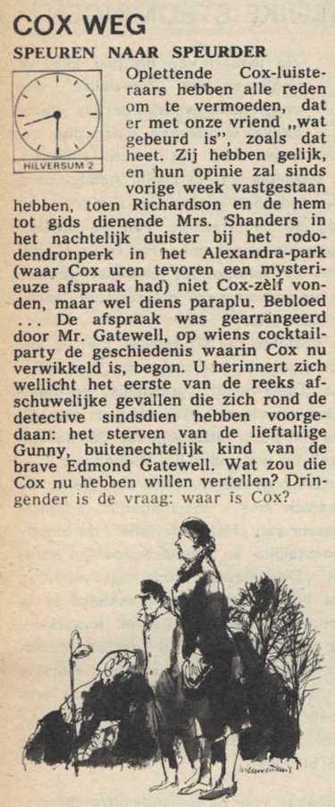 Deel 4 de inhoudsomschrijving (Mijn naam is Cox! (1968).