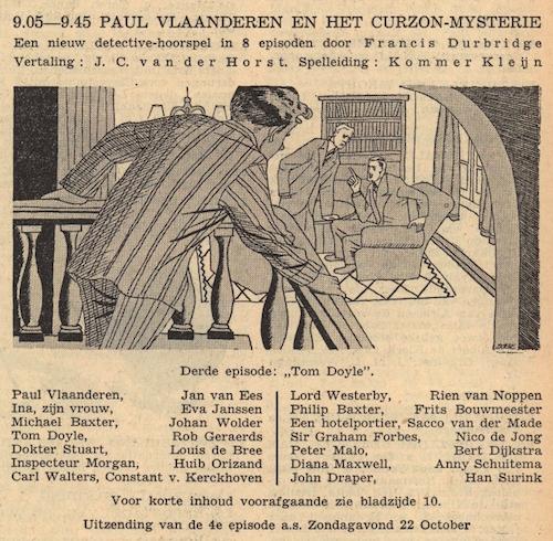 Deel 3. Paul Vlaanderen en het Curzon mysterie.