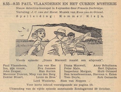 Deel 4. Paul Vlaanderen en het Curzon mysterie.