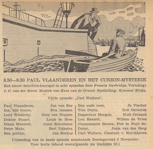 Deel 5. Paul Vlaanderen en het Curzon mysterie.