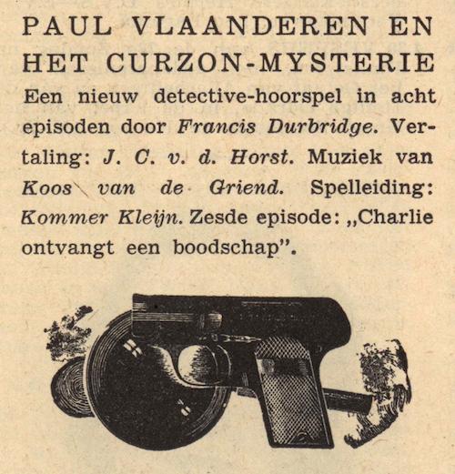 Deel 6. Paul Vlaanderen en het Curzon mysterie.