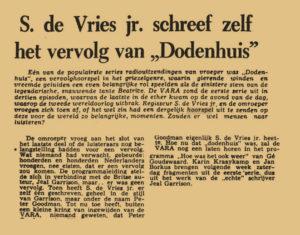 Artikel uit de krant van 01-08-1959.