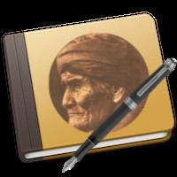 Afbeelding van Geronimo op een boek.