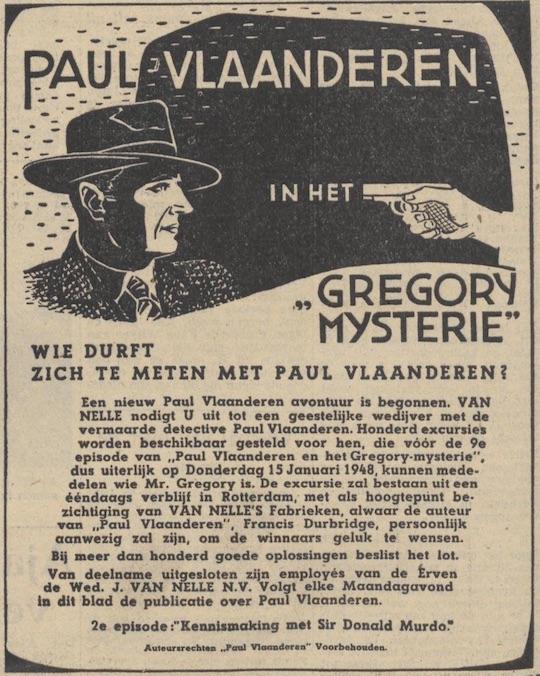 Deel 1. De Paul Vlaanderen Van Nelle prijsvraag.