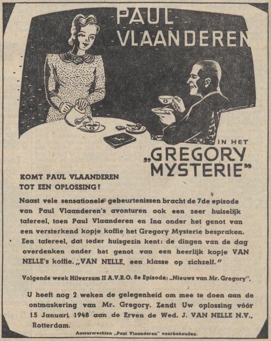 Deel 7. De Paul Vlaanderen Van Nelle prijsvraag.