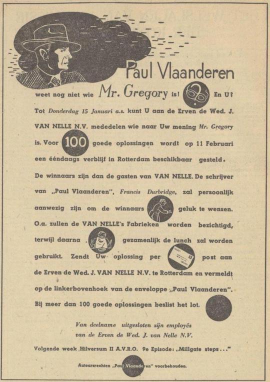 Deel 8. De Paul Vlaanderen Van Nelle prijsvraag.