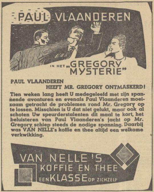 Deel 10. De Paul Vlaanderen Van Nelle prijsvraag.
