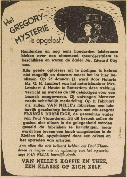 Opgelost! De Paul Vlaanderen Van Nelle prijsvraag.