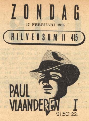 Deel 1. Haal Paul Vlaanderen er weer bij!