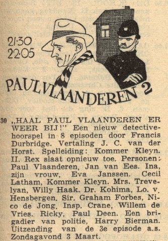 Deel 2. Haal Paul Vlaanderen er weer bij!