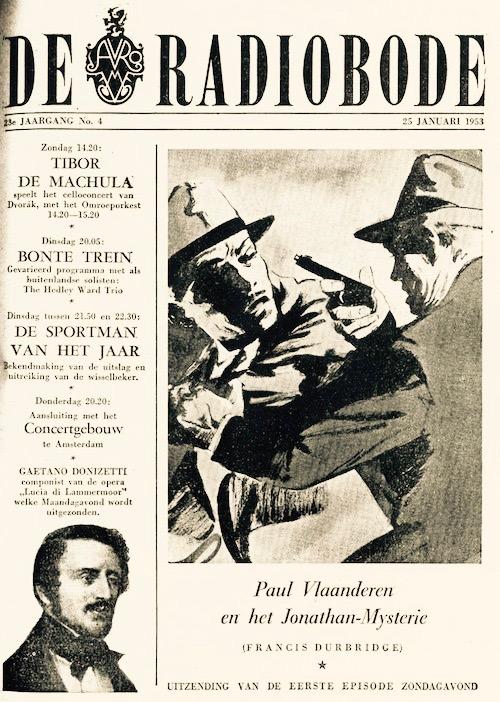 Cover radiogids. Paul Vlaanderen en het Jonathan mysterie.