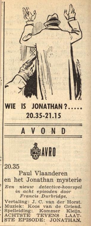 Deel 8. Paul Vlaanderen en het Jonathan mysterie.