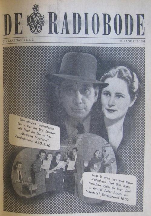 Cover van de radiogids. Paul Vlaanderen en het Madison mysterie.
