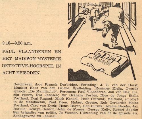 Deel 2. Paul Vlaanderen en het Madison mysterie.