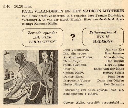 Deel 7. Paul Vlaanderen en het Madison mysterie.