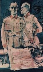 Een illustratie van Dubbelspion uit de radiogids.