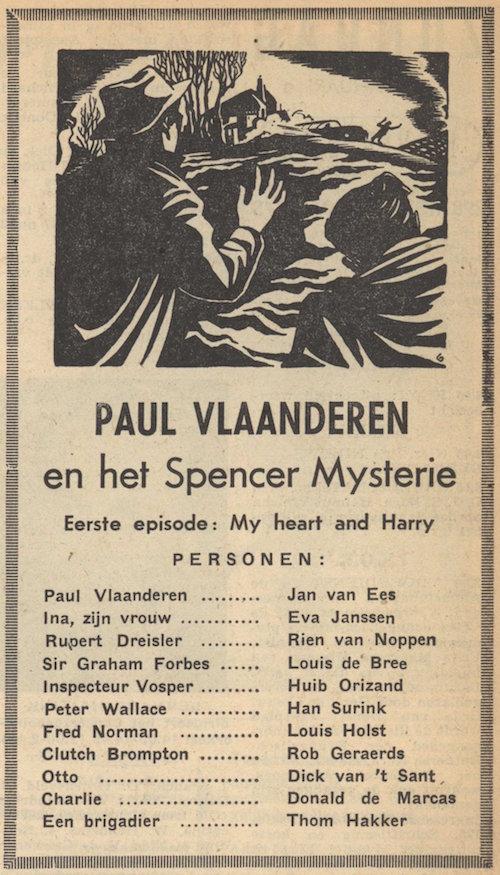 Deel 1. Paul Vlaanderen en het Spencer mysterie.