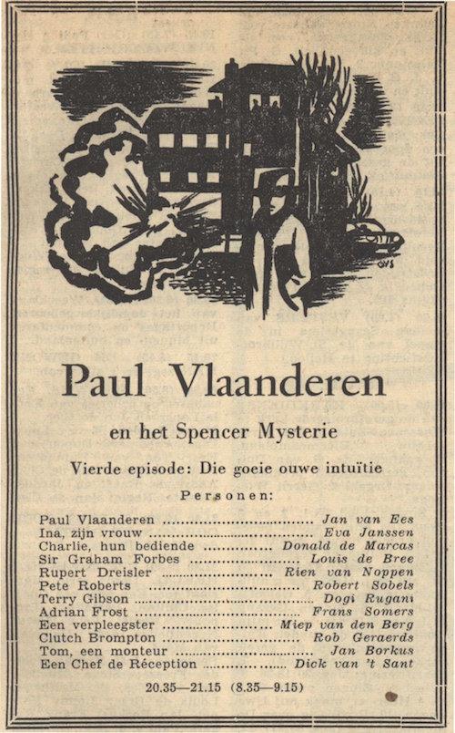Deel 4. Paul Vlaanderen en het Spencer mysterie.