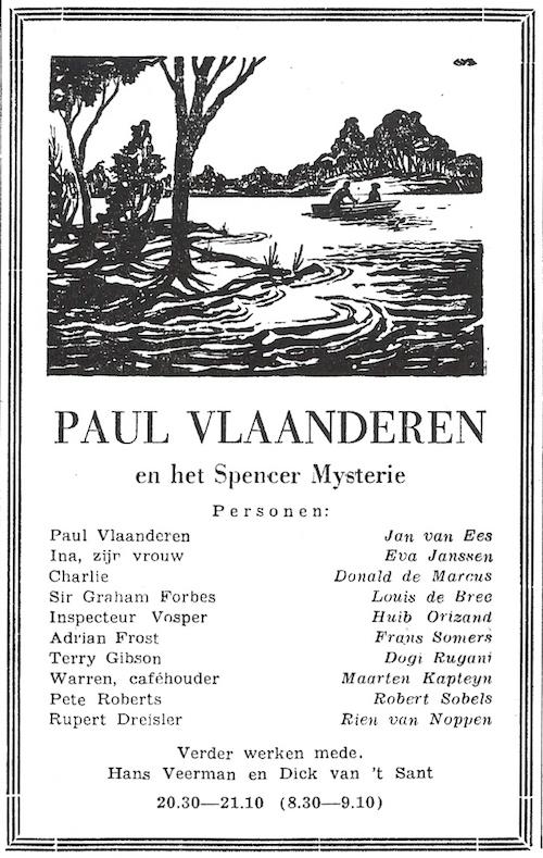 Deel 5. Paul Vlaanderen en het Spencer mysterie.