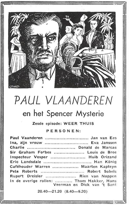 Deel 6. Paul Vlaanderen en het Spencer mysterie.