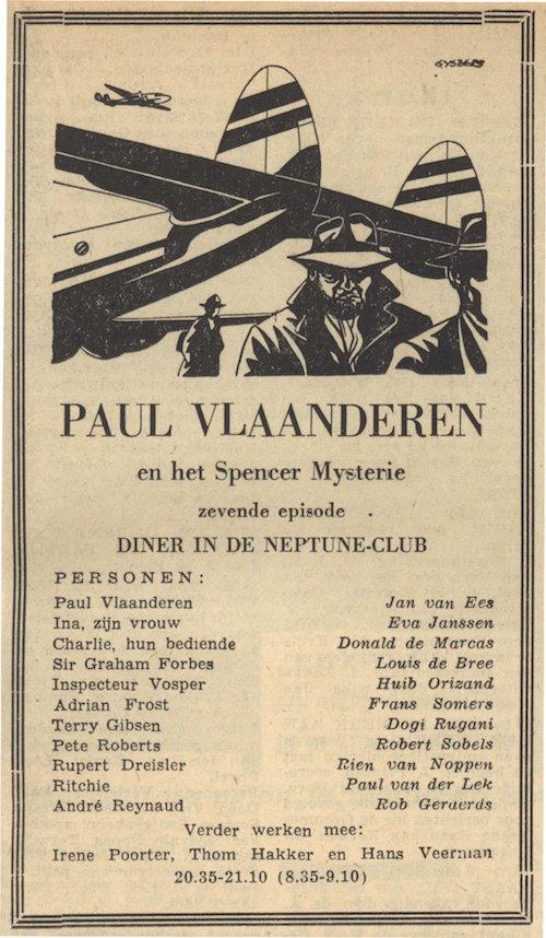 Deel 7. Paul Vlaanderen en het Spencer mysterie.