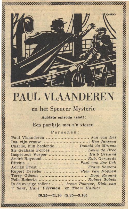Deel 8. Paul Vlaanderen en het Spencer mysterie.