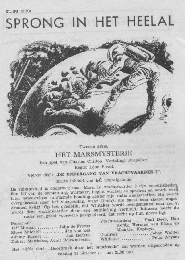 Deel 4. Aankondiging: Het Marsmysterie