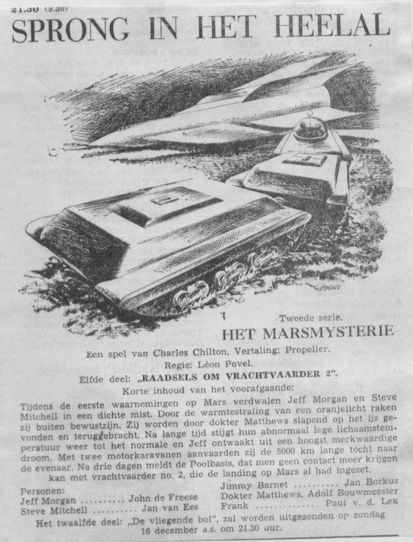 Deel 11. Aankondiging: Het Marsmysterie
