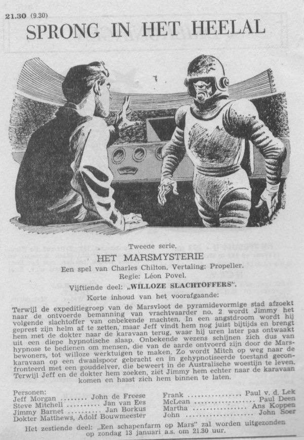 Deel 15. Aankondiging: Het Marsmysterie