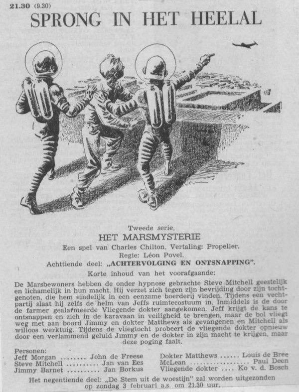 Deel 18. Aankondiging: Het Marsmysterie