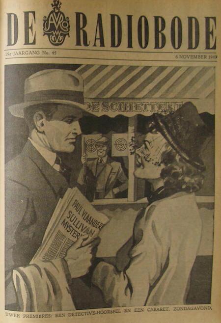 Cover van de radiogids. Paul Vlaanderen en het Sullivan mysterie.