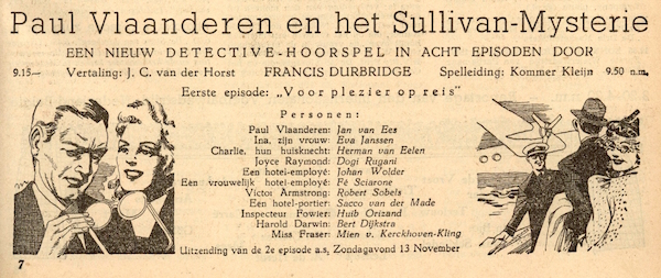 Deel 1. Paul Vlaanderen en het Sullivan mysterie.
