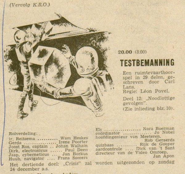 Deel 12. Aankondiging: Testbemanning