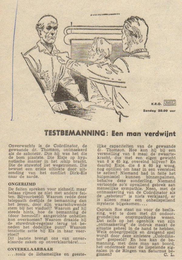 Deel 15. Aankondiging: Testbemanning informatie