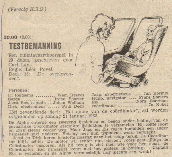 Deel 16. Aankondiging: Testbemanning