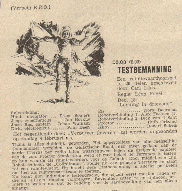 Deel 18. Aankondiging: Testbemanning